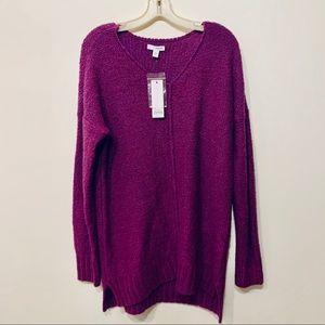 Sonoma Purple Oversized V-Neck Sweater NEW sz M